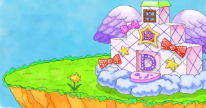 Users of the Dream World were able to maintain a house and a garden.