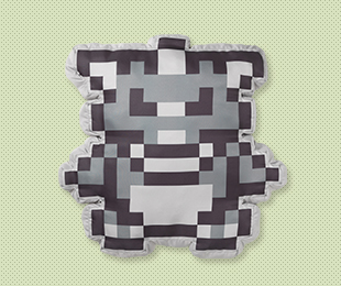 Giant Pixel Rhyhorn Cushion