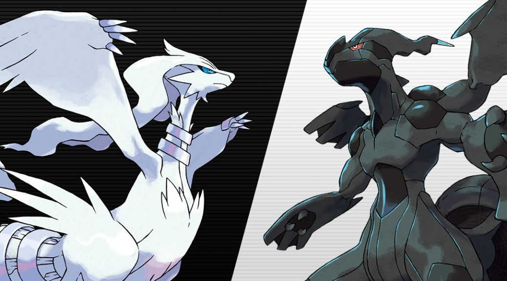 Black and White feature the Pokémon Reshiram and Zekrom.