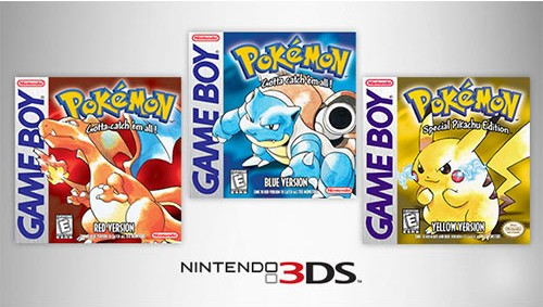 Pokémon Red, Blue and Yellow are being released worldwide on the Nintendo 3DS Virtual Console.Source: The Pokémon Company