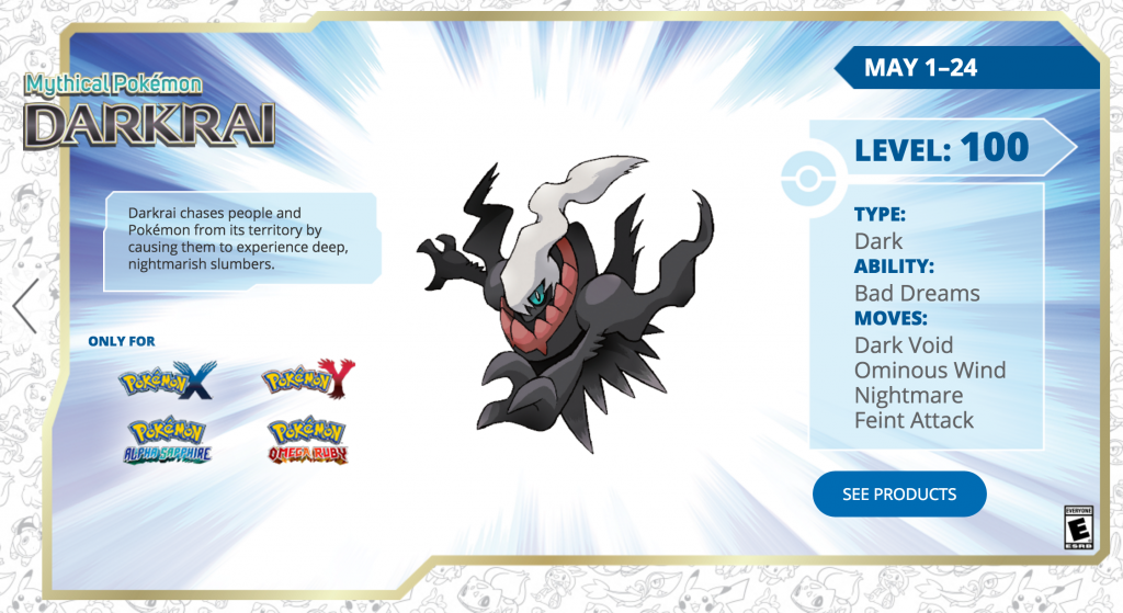 You might have Bad Dreams yourself if you miss out on the Darkrai distribution!
