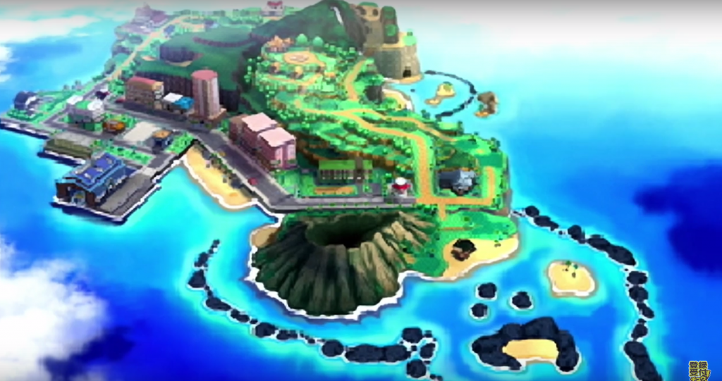 The map of Alola.