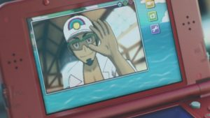 Kukui says hi on the 3DS game intro.