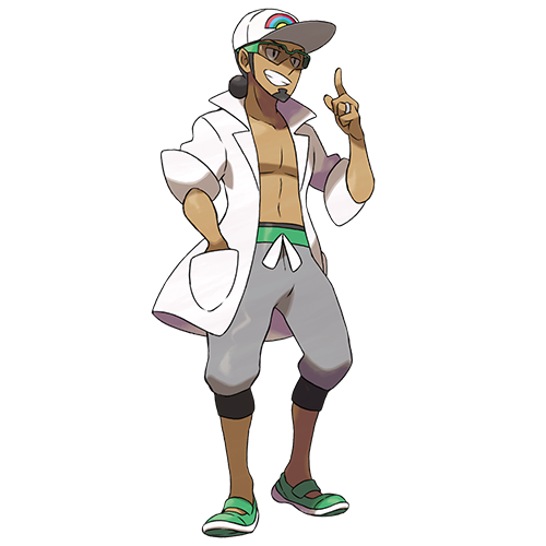 He's working a tan and a Pokémon!