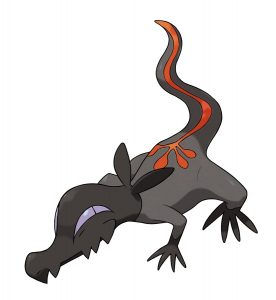 Salandit is described as being very cunning and it certainly looks the part.