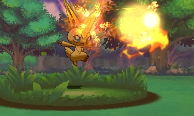 So what happens when a Victini fights another Victini...?