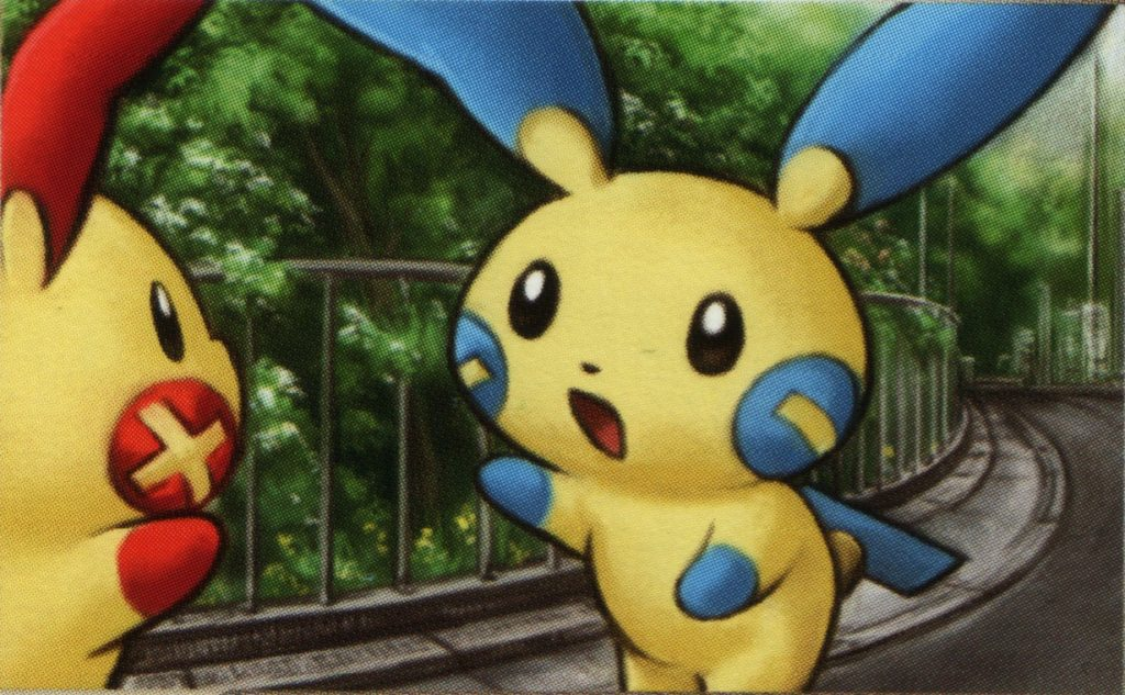 Plusle and Minun discussing the positive and negative aspects of third versions.