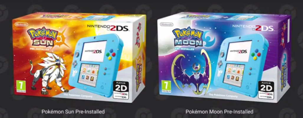 Pikachu's on the 2DS as well.