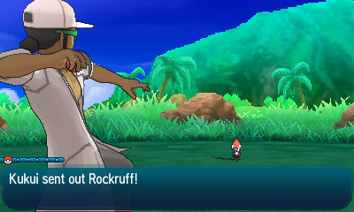 In the Catching Challenge, Kukui shows you how to catch a Pokémon.