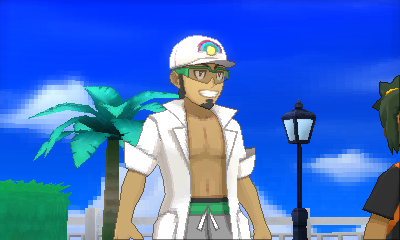 Kukui's cheesy smile.