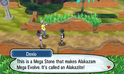 After becoming the Champion fight Dexio for the Key Stone and a Mega Stone!