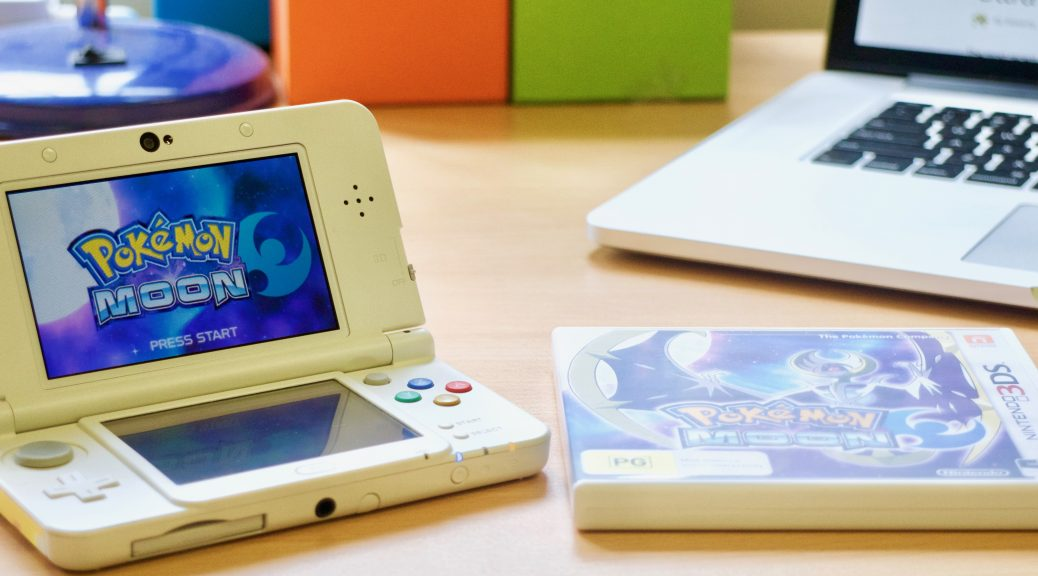 Pokémon Moon on a New 3DS. Game supplied by Nintendo Australia.