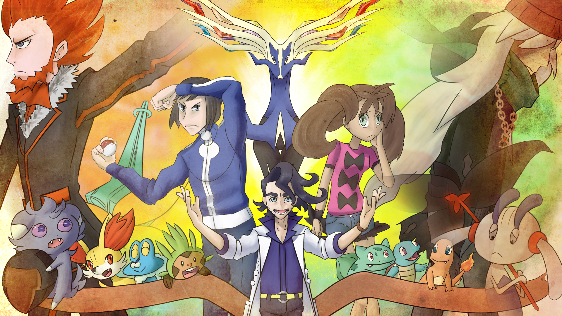 False Beauty of Kalos image exemplified by Lysandre, Professor Sycamore AZ, as well as the game's side characters