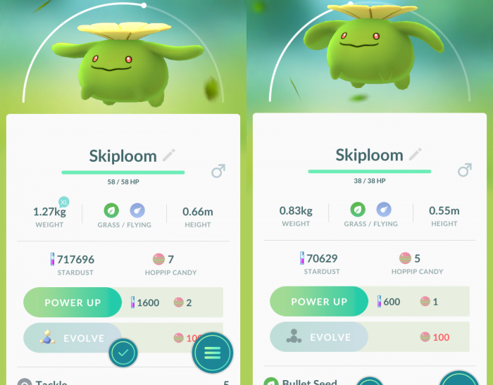 Stats Of Pokemon In Go Now Differ