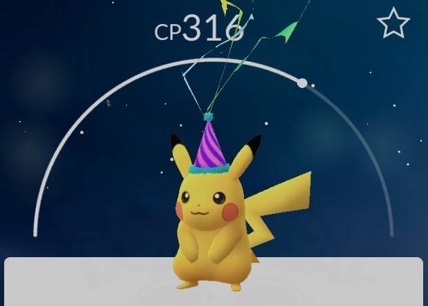 Party hat Pikachu to return in Pokémon GO for anniversary