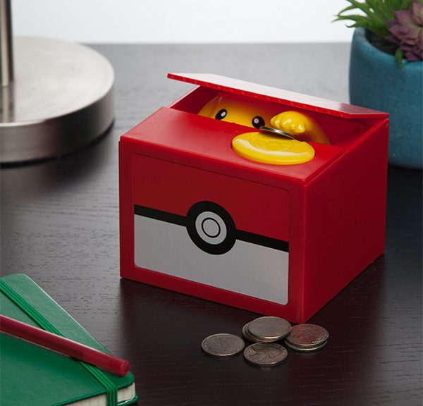 Promotional image of Pikachu grabbing a coin. Courtesy of ThinkGeek