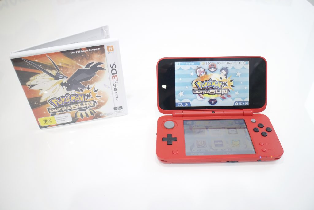 Pokémon Sun on the New Nintendo 2DS XL. Game supplied by Nintendo Australia.