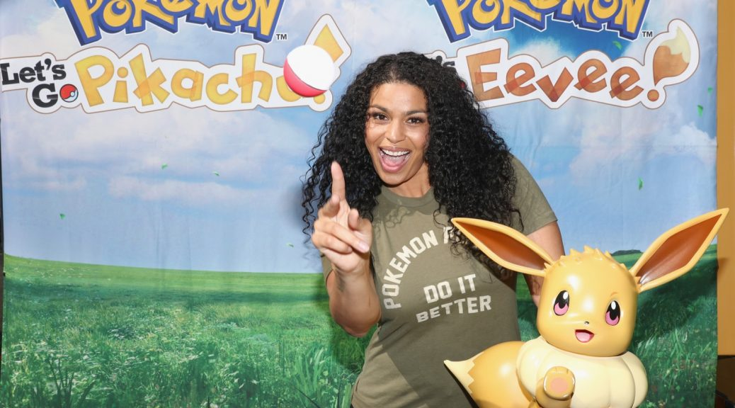 Artist/actress Jordin Sparks co-hosts a demo event at Santa Monica, California.