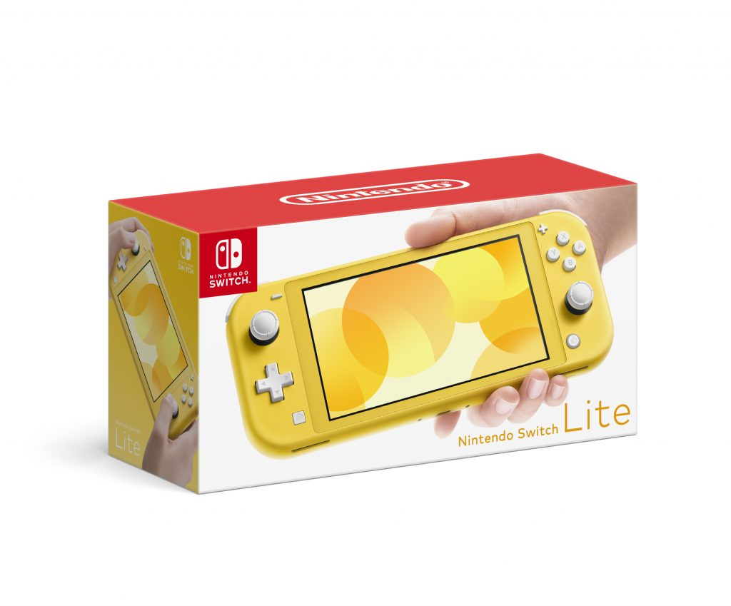 Box for the Nintendo Switch Lite's yellow variant.