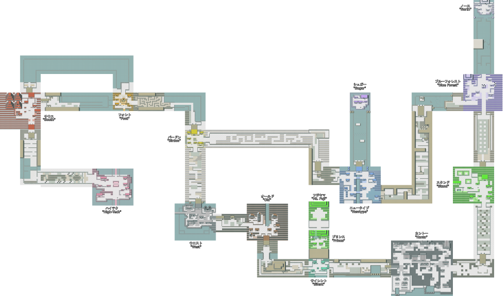 This is how the Gen II map used to look.