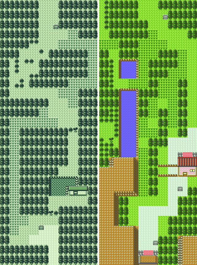 Route 43 comparison